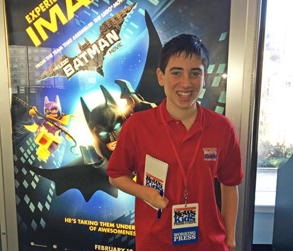 Ethan attends a screening of the new 3D superhero comedy from Warner Bros.
