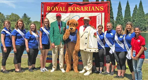 The Dairy Princesses and Adam Snook, the Prime Minister of the Royal Rosarians