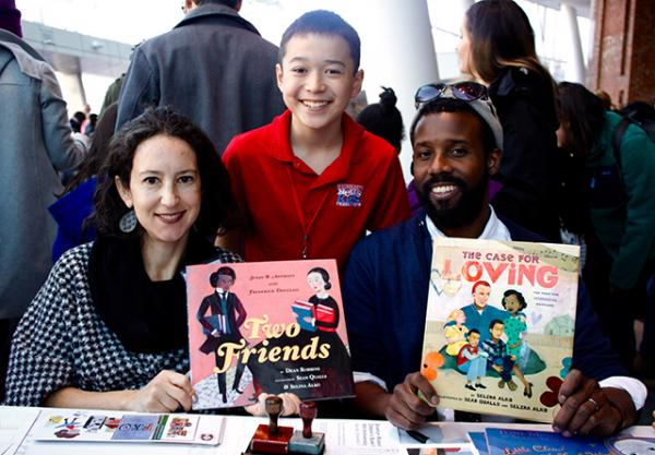 Max with Selena Alko and Sean Qualls, authors and illustrators