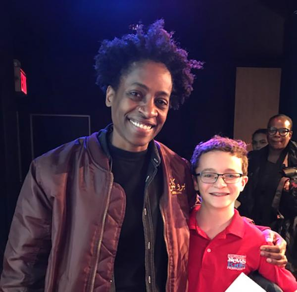Josh with author Jacqueline Woodson, who was recently named the National Ambassador for Young People's Literature by the Library of Congress