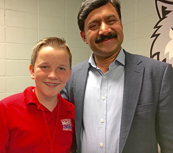 Ryan with Malala's father, Ziauddin Yousafzai