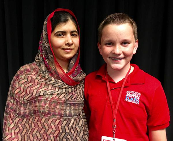 Ryan with Malala Yousafzai