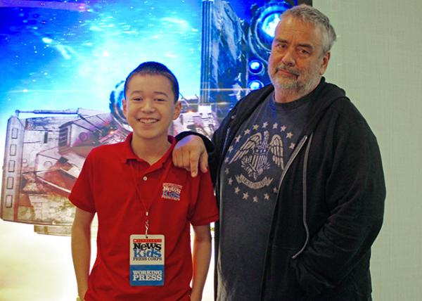 Max with French screenwriter, director, and producer Luc Besson in Hollywood, California