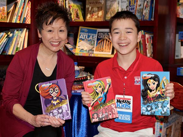 Max with Lisa Yee, author of a new book series for DC Comics