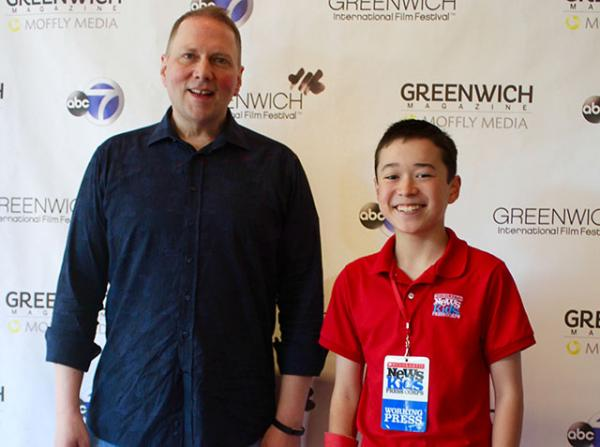 Max with Dav Pilkey at the Greenwich International Film Festival in Connecticut