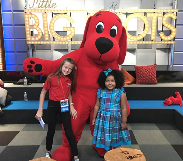 Clifford the Big Red Dog, one of Daliyah's favorite book characters, even made an appearance on the show!
