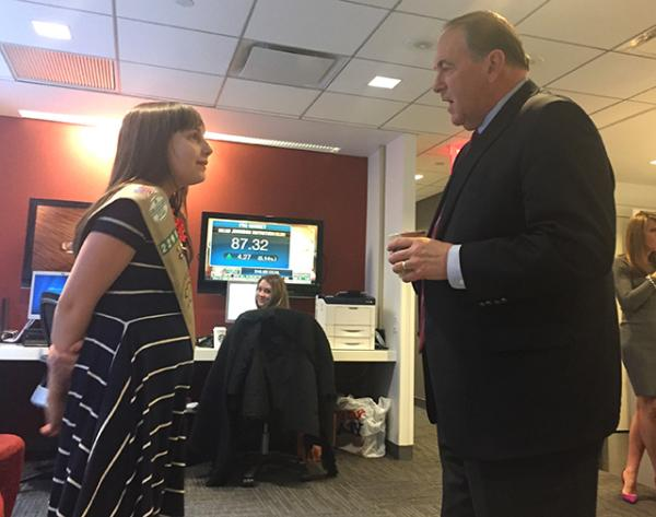 With Governor Huckabee backstage at Fox News