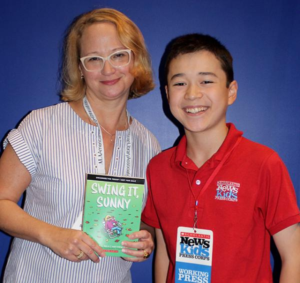 Acclaimed children's author Jennifer Holm and Max