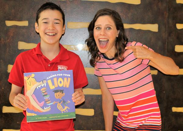Max with children's author Tammi Sauer