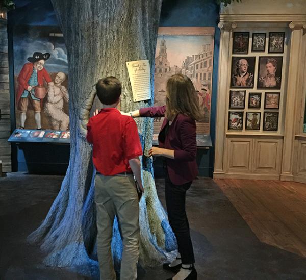 Robert with Lauren at the Museum of the American Revolution in Philadelphia, Pennsylvania