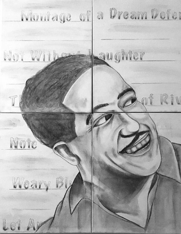 A portrait of Langston Hughes