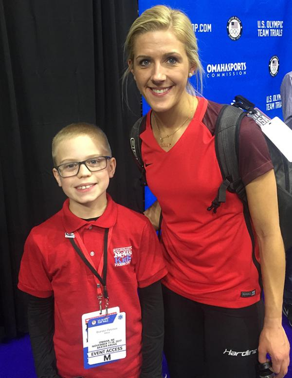 Brandon with Olympic hopeful Vicky Persinger