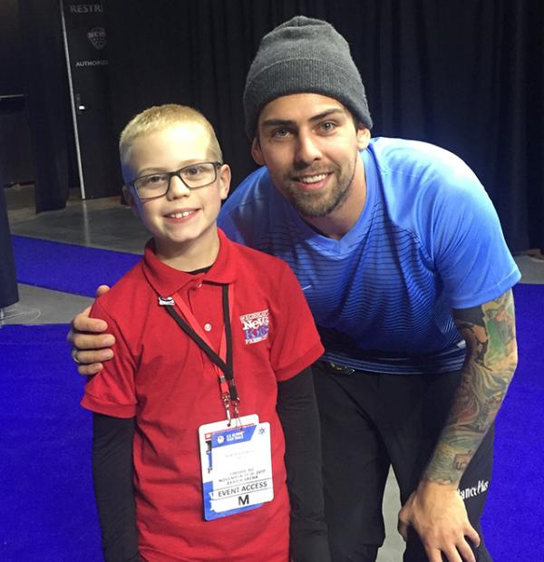 Brandon with Olympic hopeful Chris Plys