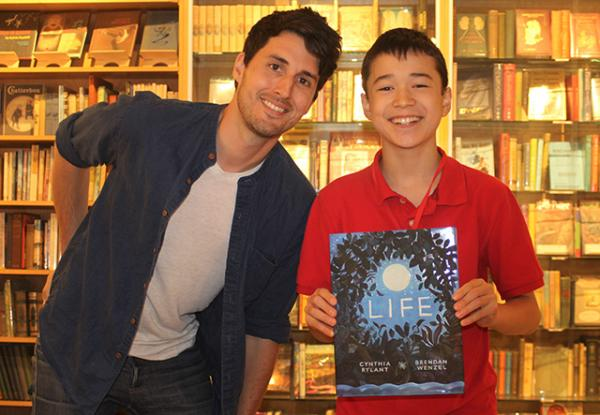 Max and Brendan Wenzel at Books of Wonder in New York