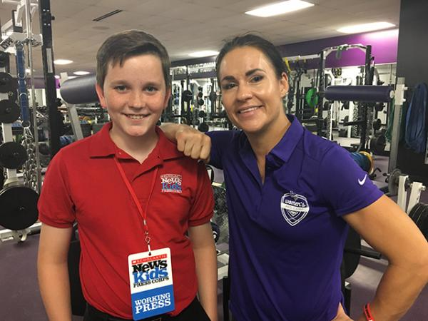 Ryan with Dr. Jen Welter