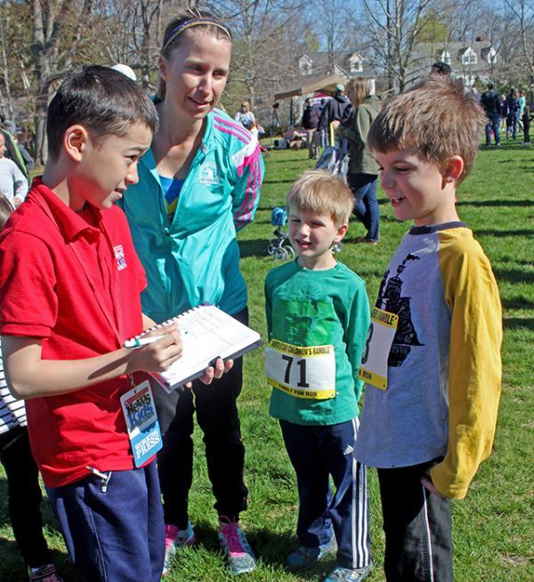 Max interviews participants in the North Star Children's Ramble.