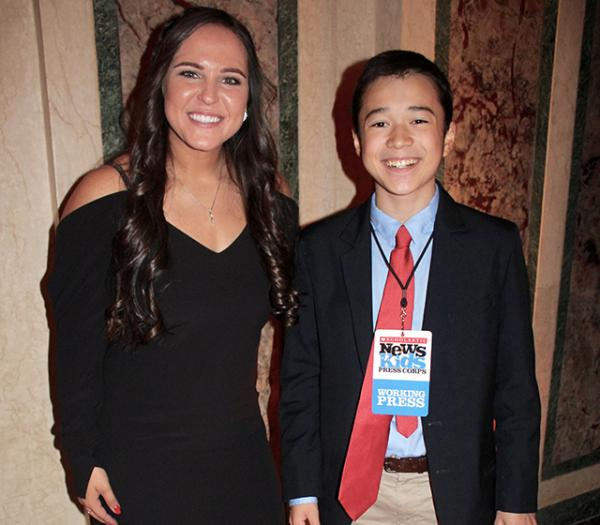 Max at the 60th Anniversary Gold Glove Awards at the Plaza Hotel in New York City with Chelsea Goodacre, representing the NFP League, at the Gold Glove Awards