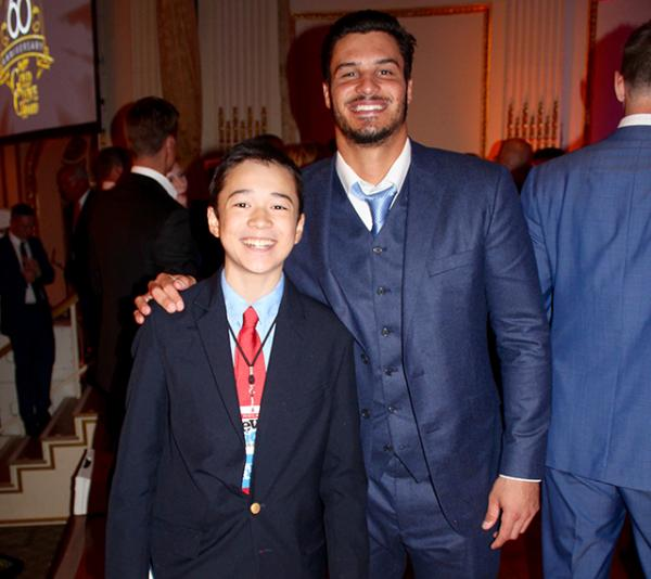 Max and Nolan Arenado, 3B for the Colorado Rockies, who won a Platinum Award at the Gold Glove Awards