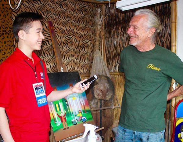 Max interviewing New Orleans folk artist Dr. Bob