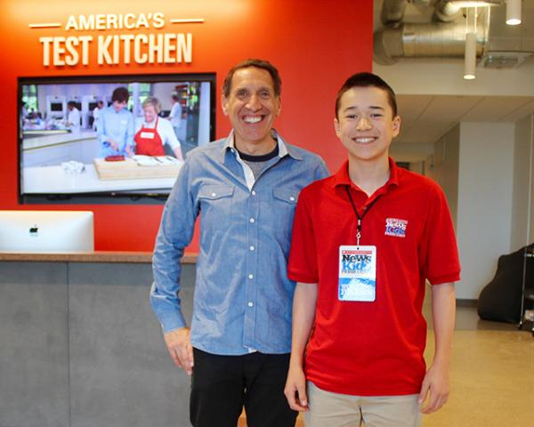 Maxwell with chief creative officer Jack Bishop at America's Test Kitchen in Boston, Massachusetts