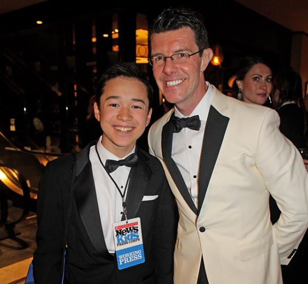 Max and Gavin Lee (actor, Spongebob Squarepants) at the Gala at The Plaza Hotel in New York City