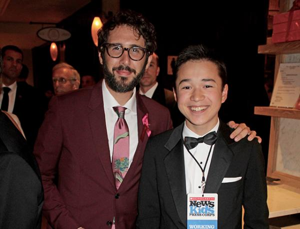 Max and Josh Groban at the post Gala event at The Plaza Hotel in New York City