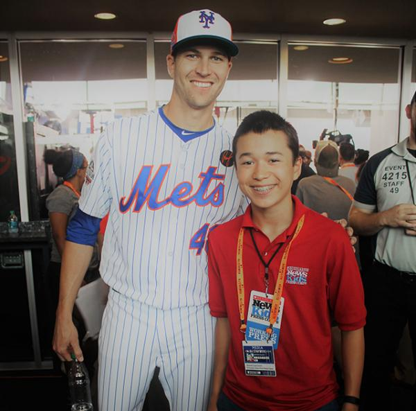 Max and Jacob DeGrom at media day before the All-Star Game