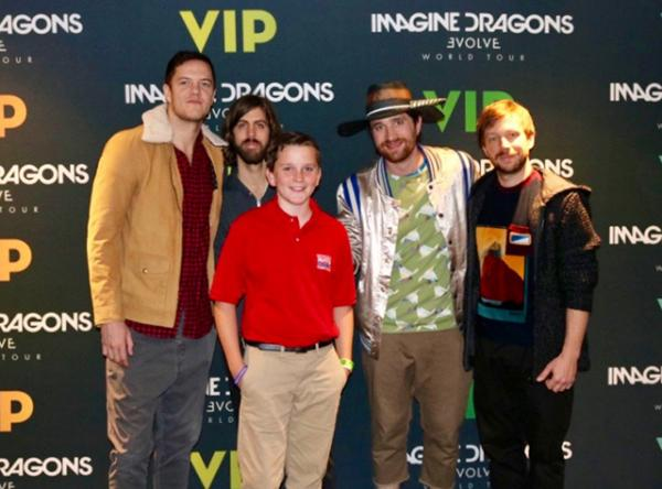 Ryan with the Las Vegas based band Imagine Dragons