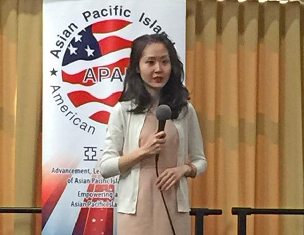 Lindy Lee speaks to the Austin chapter of the Asian Pacific Islander American Public Affairs Association (APAPA)