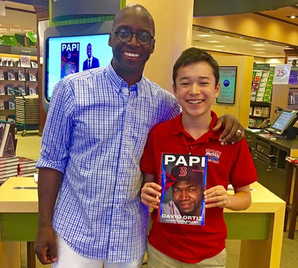 Max and Michael Holley at Barnes & Noble in Framingham, Massachusetts, July 23, 2017
