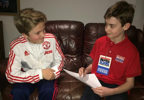 Ben interviews James Livermore, 12, from Emsworth, England