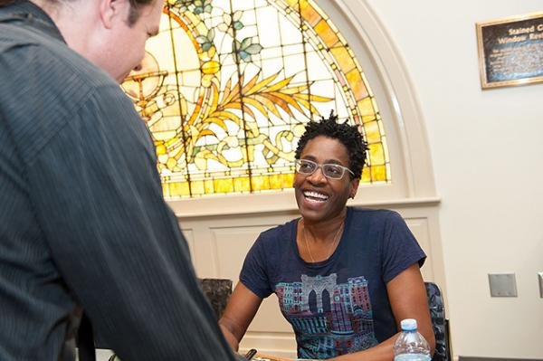 Jacqueline Woodson (photo by the Kalamazoo Public Library)