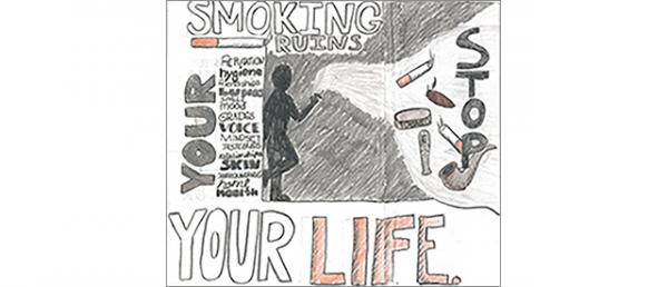 Kaylie's poster for the Stay Smart About Tobacco Poster Contest