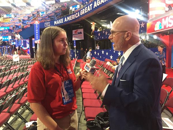 Kyra interviews political commentator Michael Smerconish.