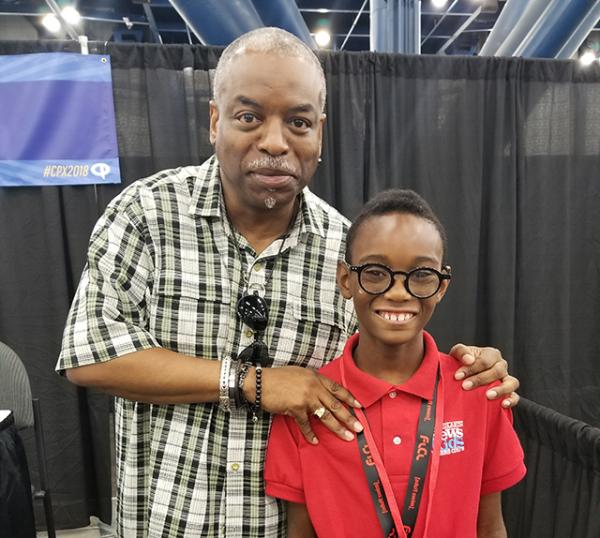 LeVar Burton with Owen
