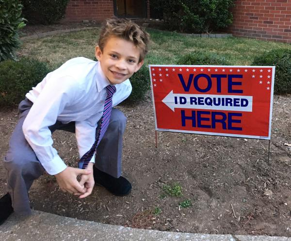 Leo Tobbe at the polls