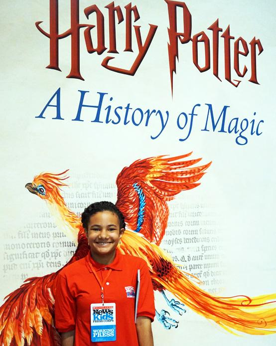 Marley I. Alburez at the Harry Potter History of Magic Exhibit