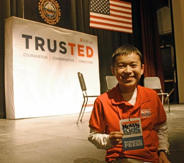 Max at the Cruz rally in Nashua, New Hampshire