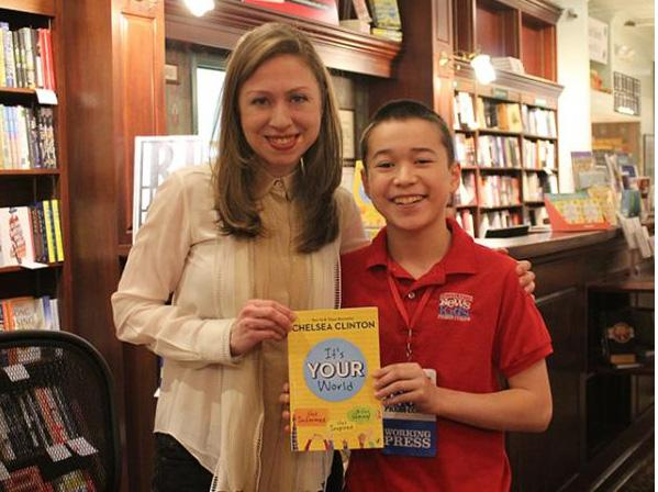 Maxwell with Chelsea Clinton in 2017 in Madison, Connecticut. Photo courtesy of the author