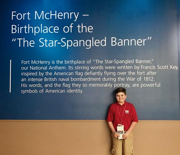 Nolan visits Fort McHenry National Monument and Historic Shrine in Baltimore, Maryland.