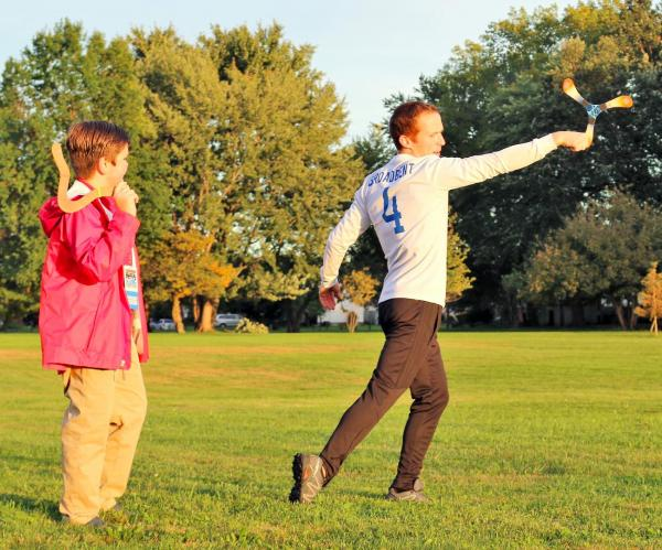 Nolan with Boomerang champ