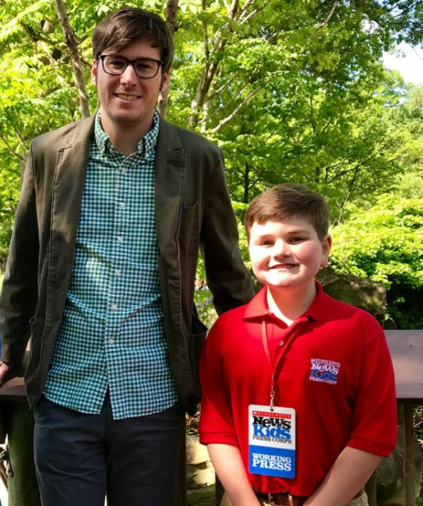 Nolan with Jeffrey Tolman, external communications coordinator at the Cleveland Metroparks Zoo.