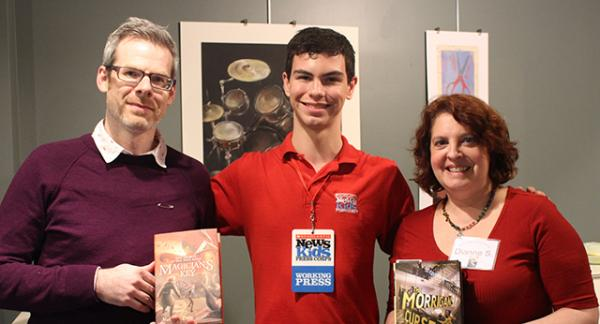 Erik with authors Matthew Cody and Dianne Salerni at the Lititz Kid Lit Festival.