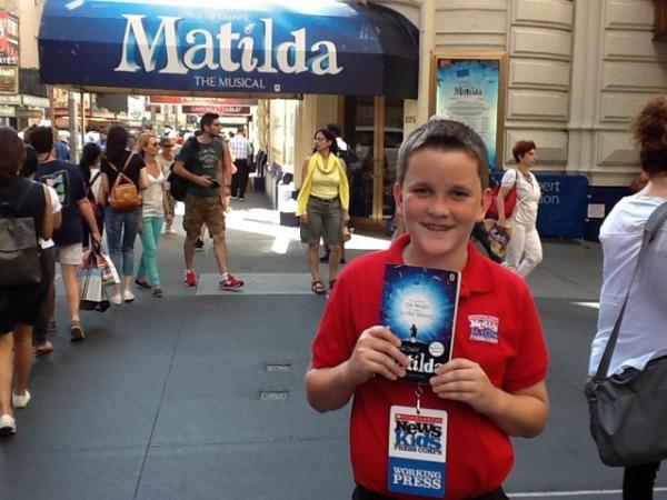 Ryan in front of The Shubert Theatre
