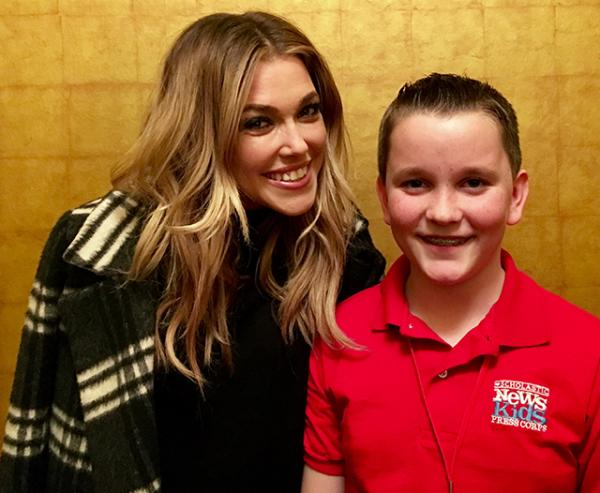 Rachel Platten backstage with Ryan at the Mystic Showroom