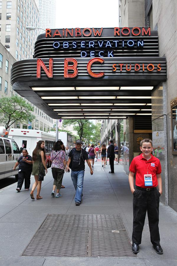 Ryan outside NBC studios in New York City