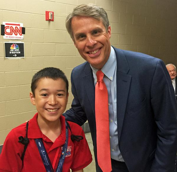 Max with Terry Moran, Chief Foreign Correspondent for ABC News