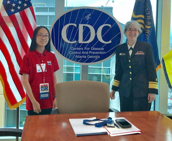 Victoria with Dr. Anne Schuchat, Acting Director of the CDC