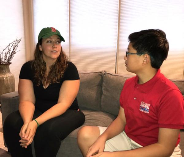 Alex talks with Traci Wickham, who survived the shootings at a music festival in Las Vegas last October.