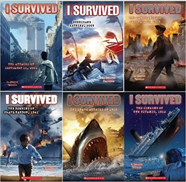 Six books from the I Survived Series